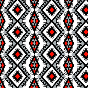 Native American Rain Pattern Grey