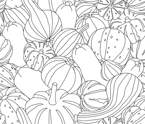 oh my gourd! fabric by booboo_collective on Spoonflower - custom fabric