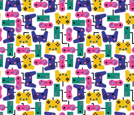 Gamer Girl fabric by make_much_studios on Spoonflower - custom fabric