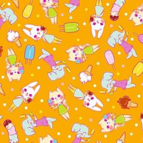 Ice Cream Friends - Orange