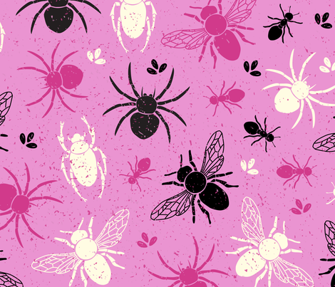 Insects fabric by megdig_design on Spoonflower - custom fabric