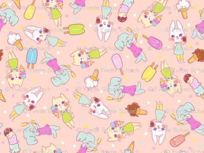 Ice Cream Friends - Pink