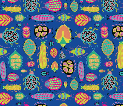 Tropical Bugs fabric by sandra_hutter_designs on Spoonflower - custom fabric