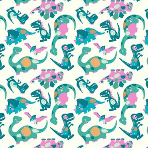 Princess Awesome Dinosaurs - Mini Size