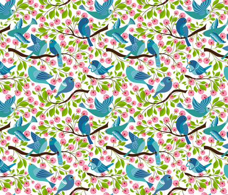 I'm going to be a bird illustrator fabric by vo_aka_virginiao on Spoonflower - custom fabric