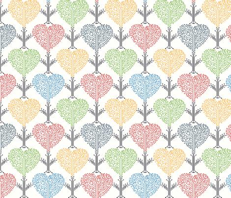 Secret electric circuit of the heart fabric by avisnana on Spoonflower - custom fabric