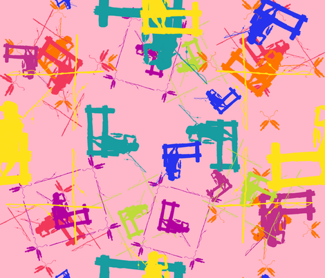 Catch of the Day fabric by dandd_designs on Spoonflower - custom fabric