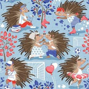 Dreamy hedgehog princess // pastel