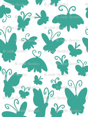 Itty Bitty Mono Butterflies