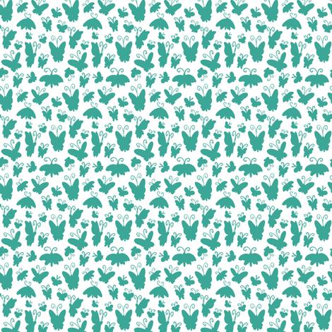 Itty Bitty Mono Butterflies fabric by jadegordon on Spoonflower - custom fabric