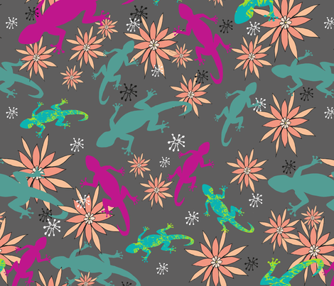 LizardsPartyPrincessAwesome fabric by maredesigns on Spoonflower - custom fabric