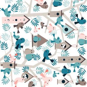 bird family tree - rotated