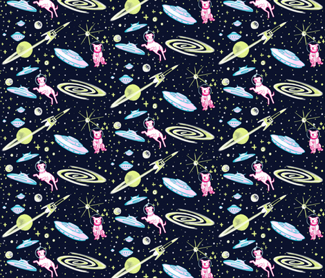 Sci-Fi Canines fabric by allison_crary on Spoonflower - custom fabric