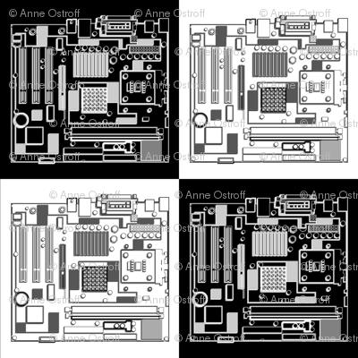 Motherboard Checkerboard, 3D