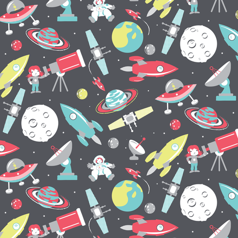 space fabric by ebygomm on Spoonflower - custom fabric