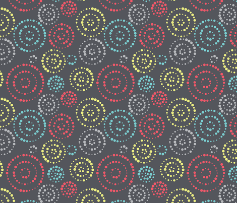 Circles forming circles fabric by ebygomm on Spoonflower - custom fabric