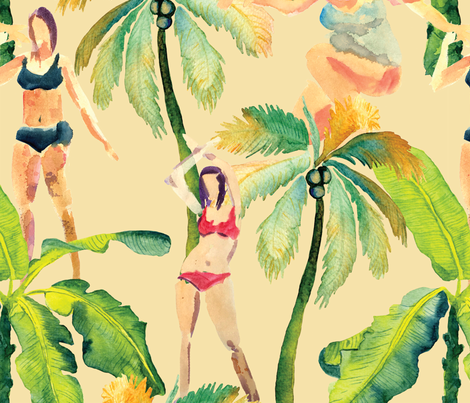 Summer vacation fabric by exotic_vector on Spoonflower - custom fabric