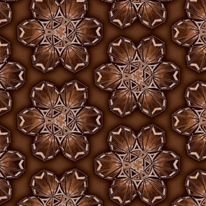 snowflake hexagons #2 - bronze satin