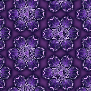 snowflake hexagons #2 - purple satin