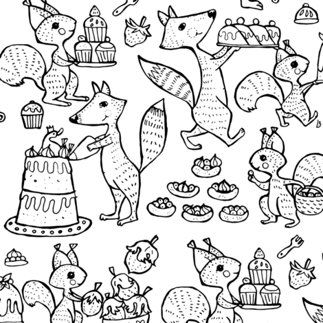 Forest bakery  fabric by potyautas on Spoonflower - custom fabric