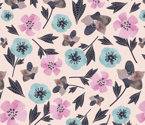 Flowers fabric by gooloopi on Spoonflower - custom fabric