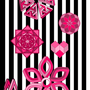 Optical Illusions Pink