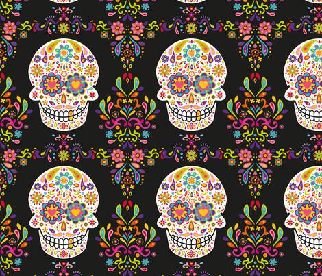 AllDayOfTheDead fabric by alexiazotos on Spoonflower - custom fabric