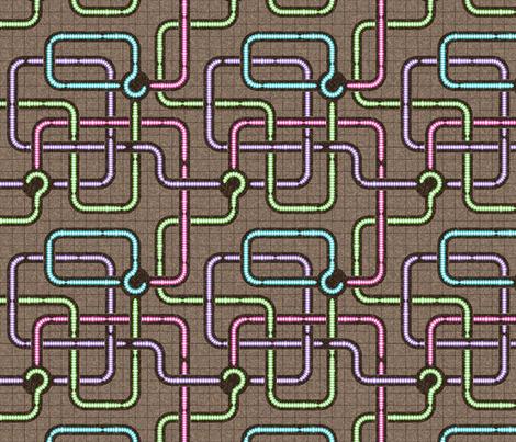 The Worm Underground fabric by gigi&mae on Spoonflower - custom fabric