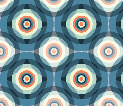 Circles fabric by christiebcurator on Spoonflower - custom fabric