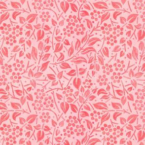 Pink Filigree Floral