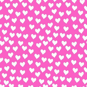 hearts on hot pink
