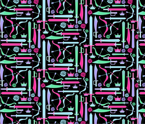 PRINCESS_WARRIOR-01 fabric by babybanana on Spoonflower - custom fabric