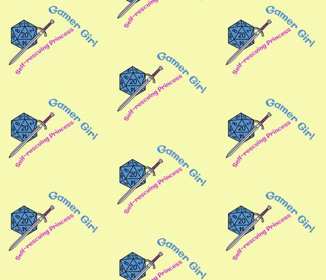 Gamer Girl fabric by shari_lynn's_stitches on Spoonflower - custom fabric