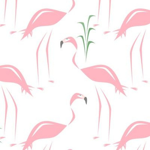 Retro Flamingos & Tully Grass