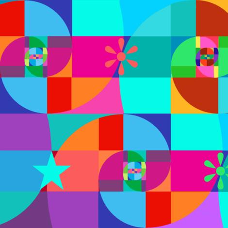 Awesome Fibonacci Spirals fabric by elramsay on Spoonflower - custom fabric