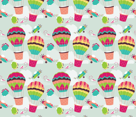 It's an Adventure fabric by femvisionary on Spoonflower - custom fabric
