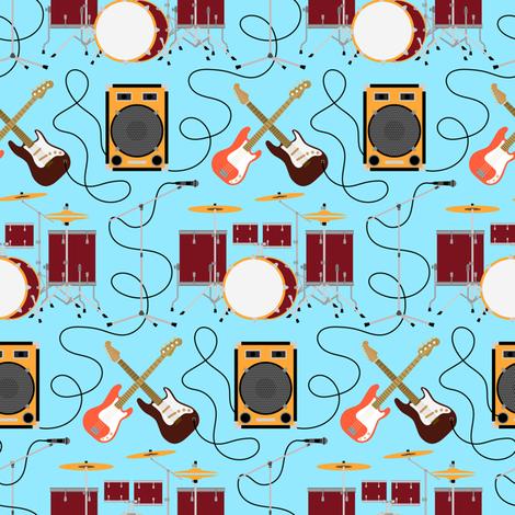 Let's Rock! fabric by svetlana_prikhnenko on Spoonflower - custom fabric