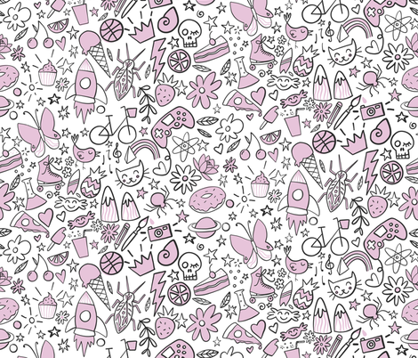 Awesome childhood fabric by natalia_gonzalez on Spoonflower - custom fabric