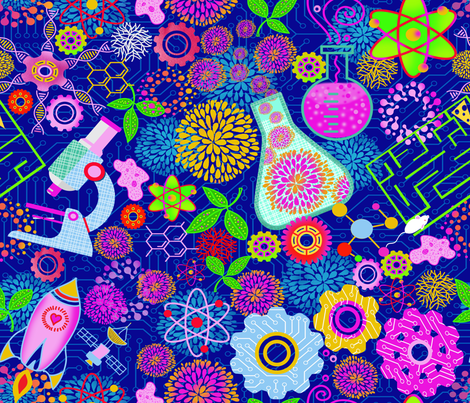 STEM Princess Possessions fabric by honoluludesign on Spoonflower - custom fabric