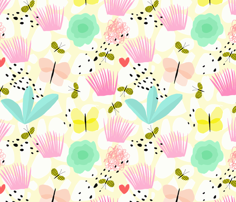 LITTLE PRINCESS PRINT fabric by nadinewestcott on Spoonflower - custom fabric