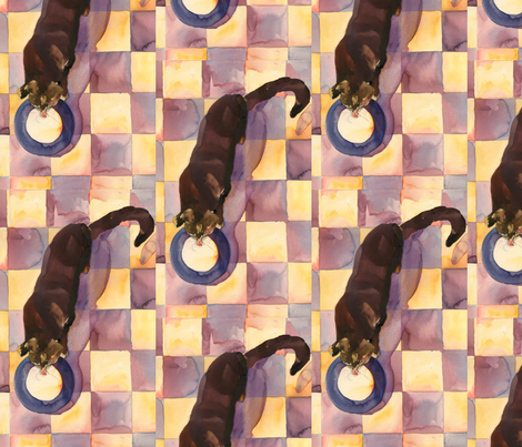 kitty pattern  fabric by slick on Spoonflower - custom fabric