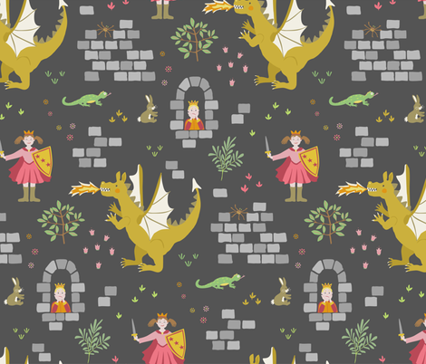 Princess Awesome to the rescue! fabric by rachelmacdonald on Spoonflower - custom fabric