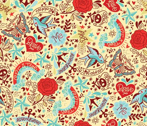 Happy Tatties <3 fabric by cynthiafrenette on Spoonflower - custom fabric