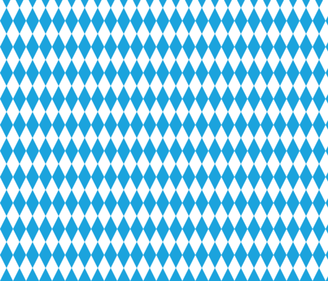 Oktoberfest Bavarian Blue and White Small Diagonal Diamond Pattern fabric by paper_and_frill on Spoonflower - custom fabric