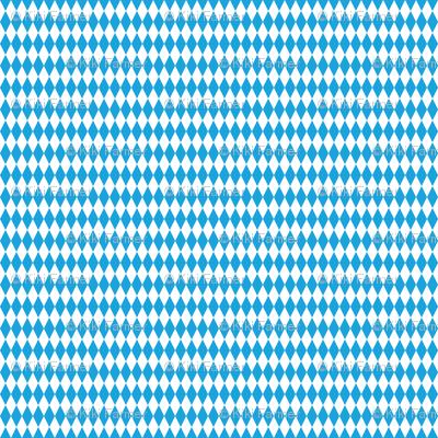 Oktoberfest Bavarian Blue and White Medium Diagonal Diamond Pattern