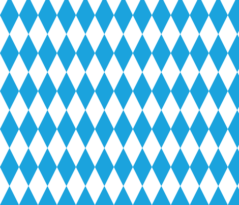 Oktoberfest Bavarian Blue and White Medium Diagonal Diamond Pattern fabric by paper_and_frill on Spoonflower - custom fabric