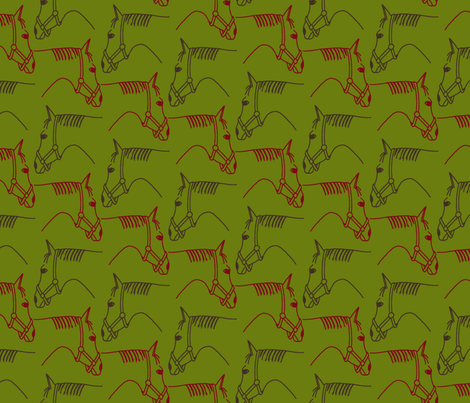 horse riding is fun fabric by freevam on Spoonflower - custom fabric