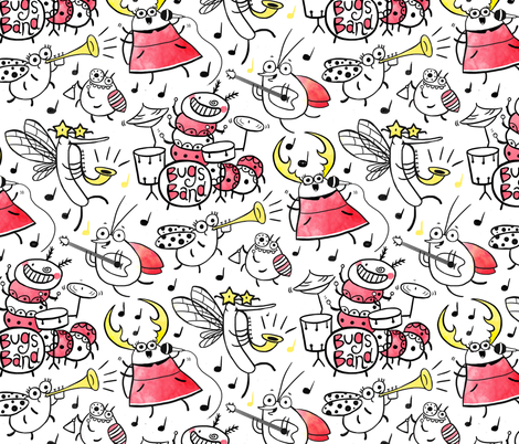 Bugs Band  fabric by monika_suska on Spoonflower - custom fabric