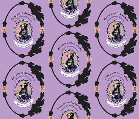 Ada Lovelace, Princess of Algorithms fabric by amytraylor on Spoonflower - custom fabric