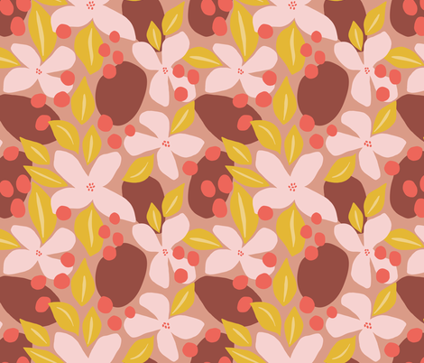 Neptunes Garden // Pinks fabric by beshkakueser on Spoonflower - custom fabric